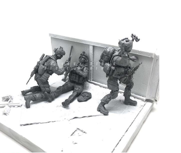 Tobyfancy 1/35 Modern U.S Navy Elite Marine Combatientes de rescate - Juguetes de construcción - foto 2