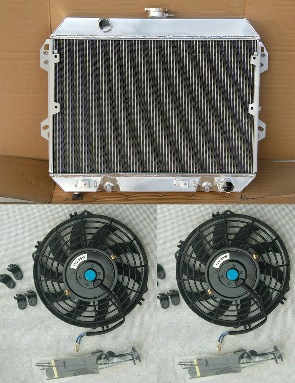 3CORE aluminum radiator for NISSAN DATSUN 510 610 710 720 L20B Manual /&fan