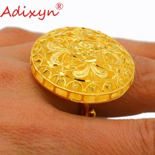 Adixyn Hollow Big Size Rings for Women/Girls Gold Color Trendy Party Wedding Jewelry N03058 цены онлайн