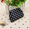2017 Modern Designer Womens Small Sequin Wallet Card Holder Dot Coin Purse Clutch Handbag Bag  wholesale Free Shipping SN