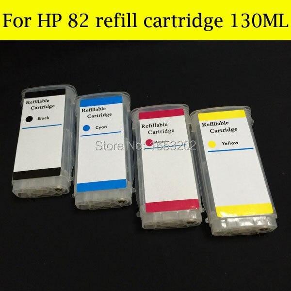 Boma. ltd 8 pièces 130 ML HP82 avec puce ARC pour HP 82 cartouches d'encre rechargeables cartouche d'encre pour imprimante HP Designjet 510|ink cartridge|ink cartridge for hp|cartridge for hp - title=