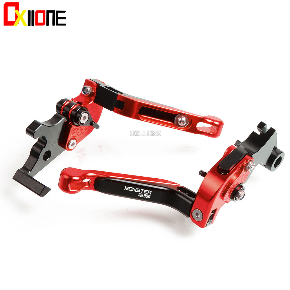 For Ducati M900 Monster S 2001 2002 MONSTER S2R 800 2005 2007 CNC Motorcycle Adjustable Brake Folding Extendable Clutch Levers in Levers Ropes Cables from Automobiles Motorcycles