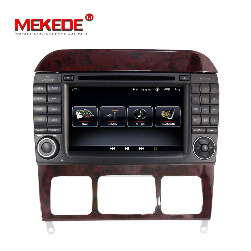 Wholesale Mekede android 8 0 system car dvd player for Mercedes Benz S280 S320 S350 S400