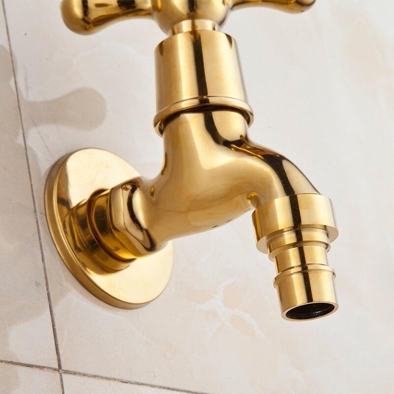 KOYIDA Gold Washing Machine Faucet Decorative Garden Faucets Brass ...