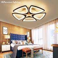 Acrylic LED ceiling lighting modern minimalist living room bedroom restaurant study lamp AC110 240V dimmable fixtures QIANXIA