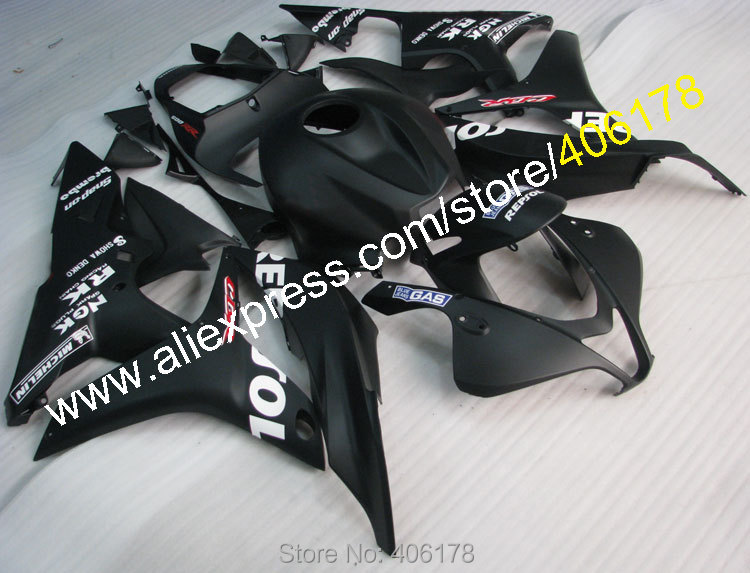 Hot Sales,For Honda CBR600RR 07 08 Fairing kit CBR 600RR CBR 600 RR F5 2007 2008 Black Repsol Fairing Kits (Injection molding) hot sales for honda cbr600rr 2003 2004 cbr 600rr 03 04 f5 cbr 600 rr blue black motorcycle cowl fairing kit injection molding