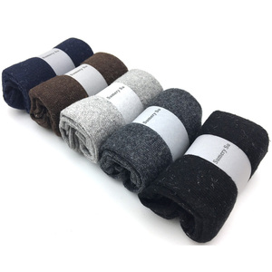 Image 4 - 5 Pairs/Lot New Wool Men Female Socks Brand Fashion Winter Warm Cashmere Socks Breathable Solid Colors  Meias Mens Sweet Gift