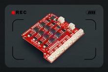Sparkfun 100% Original opto-isolated EL Escudo Dos Shield Drive Board for controlling 8 EL wire Compatible with Arduino – Red