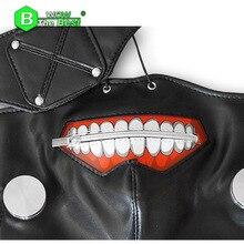 Tokyo Ghoul Cosplay Kaneki Ken Mask Adjustable Zipper Belt Halloween Party Prop Anime Mask breathing mask
