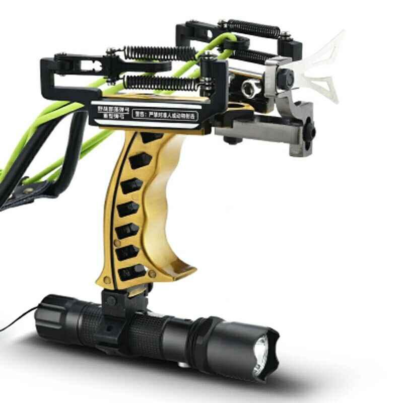 Laser Slingshot Caccia Catapulta Pesca Slingshot Potente Slingshot Con La Freccia Clip di Tiro Tiro Con La Balestra Sfere In Acciaio