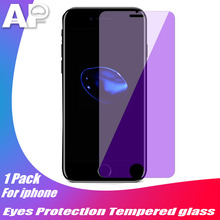 Acespower Eyes Protect Tempered Glass Purple Cover Replacement for IPhone X XR XS Max Anti Blue Light Touch Screen Protector