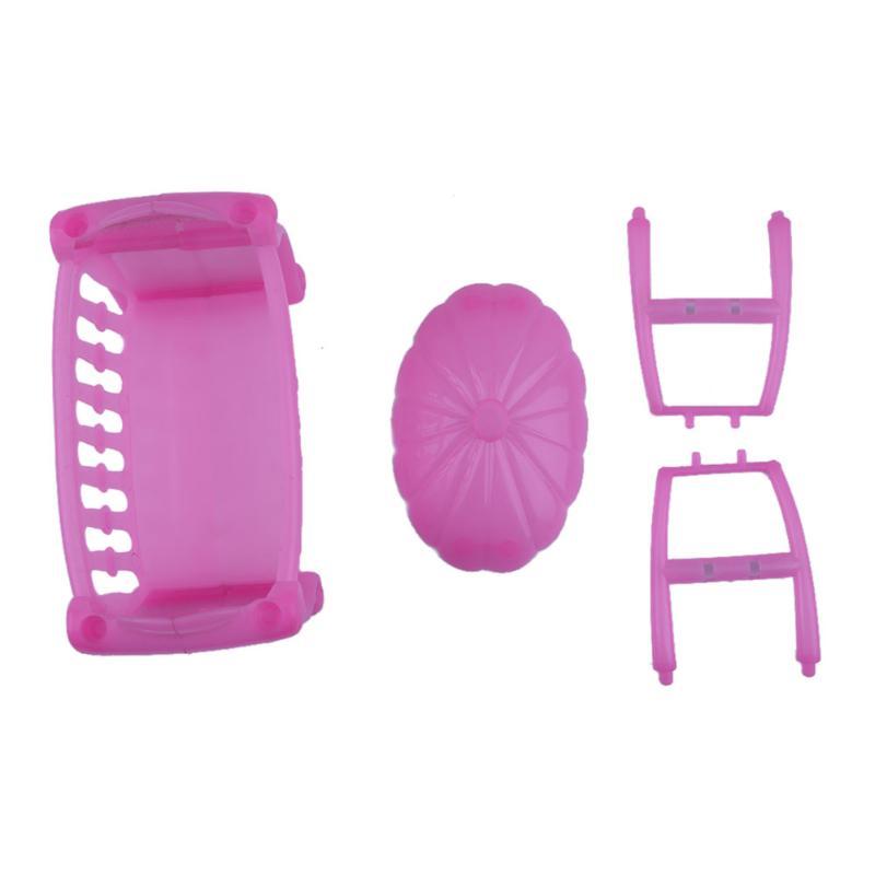 Cama de bebé de color rosa muñeca de juguete accesorios Cunas cama ...