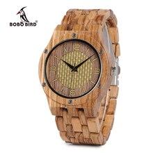 Relojes de pulsera de cuarzo de nuevo diseño para hombre y mujer, reloj de madera con forma de pájaro, para hombre y mujer, C Q01 acepta Dropshipping
