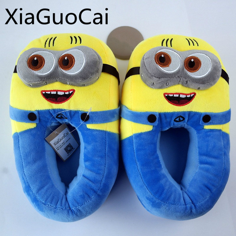 Fashion Cute Men Slipper Cotton New Style Cartoon Couple Home Slippers Plush Warm Winter Male Slipper Drop Shipping Z622 35