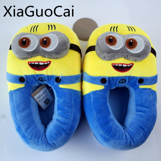 e3d7566bcba8 Fashion Cute Men Slipper Cotton New Style Cartoon Couple Home Slippers Plush  Warm Winter Male Slipper Drop Shipping Z622 35
