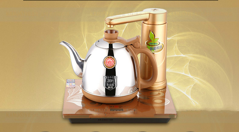 цена Full intelligent electric teapot automatic water heater kettle full tea stove set Overheat Protection