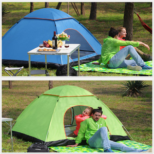 Image 4 - Tents Outdoor Camping Portable Waterproof Hiking Tent Anti UV 2/4Person Folding Pop Up Automatic Open Sun Shade Ultralight Tent