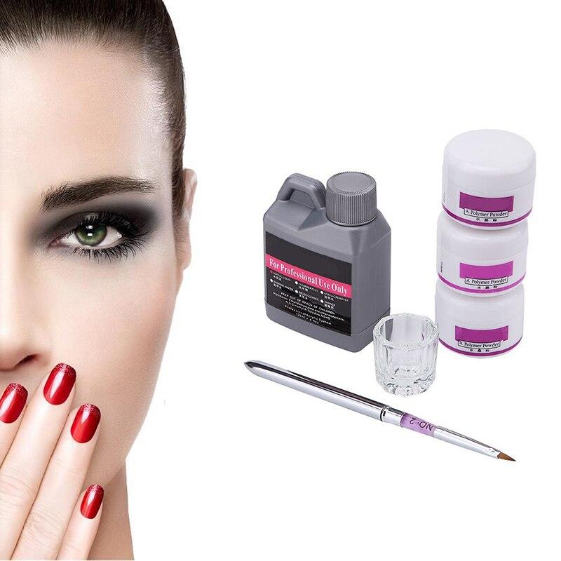 4 In 1 Acrylic Powder Acrylic Nail Kit Crystal Nail