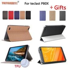 Новейший чехол-подставка для планшета Teclast P80x 8,0 дюймов чехол из искусственной кожи для P80H Новинка + пленка + стилус