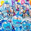 78 pçs/set Anna Elsa bebê aniversário decorações do partido crianças fontes do partido do partido decoração Kits de higiene pessoal