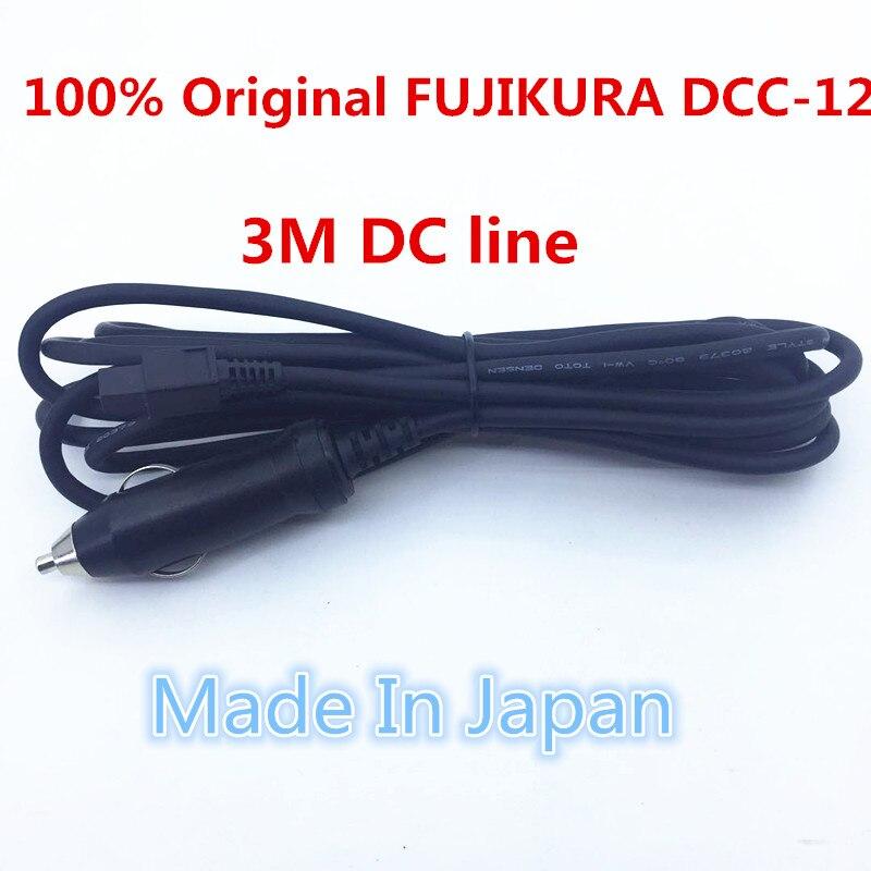 Originale made in japan fujikura FSM-60S FSM-62S FSM-80S FSM-50S FSM-70R FSM-70S Fusion Splicer 12 v DC Auto Cavo di Ricarica DCC-12