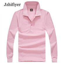 Free Shipping New Arrival CVC 65%Polyester+35%Cotton 200GSM Eyelet Fabric Mens Long-Sleeved Fashion Polo Shirts Camisa