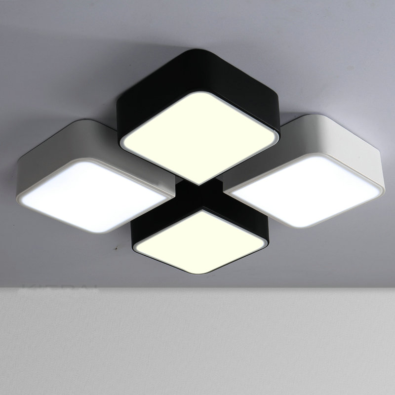 Modern design LED ceiling lamp living room led light home decoration lighting free shipping free shipping remote control colorful modern minimalist led pyramid light of decoration led night lamp for christmas gifts
