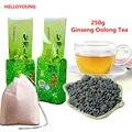 250 г Известный Здравоохранение Тайвань Женьшень Улун, китайский Женьшень Чай, чай для похудения, улун чай + подарок