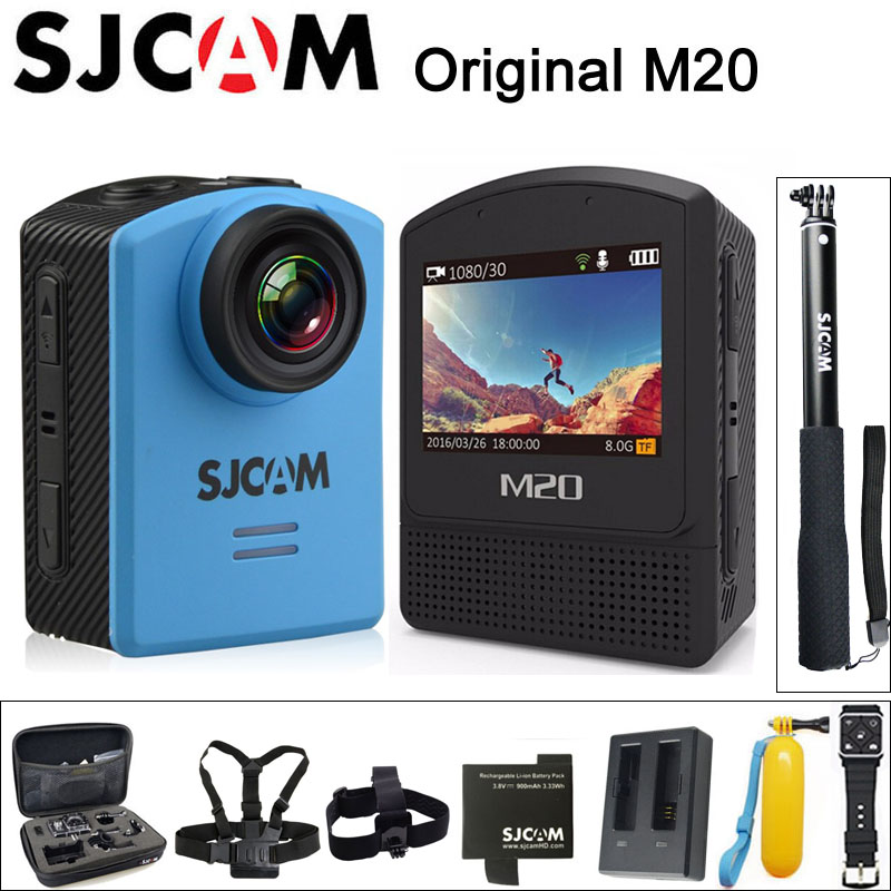 Original SJCAM M20 Sports Action Camera Underwater 4K Wifi Gyro Mini Camcorder 2160P HD 16MP Waterproof SJ Cam Sport DV ntk96660 sjcam m20 wifi gyro sport action camera hd 2160p 16mp imx 206 bluetooth watch self timer lever remote control raw cam