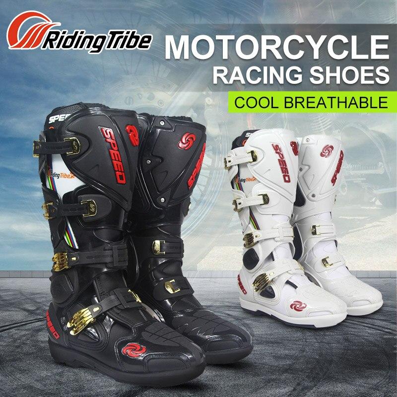 Верховая езда племя мотоциклетные сапоги для верховой езды Tribe Professional кроссовые внедорожные гоночные высокие сапоги для спорта на открытом...