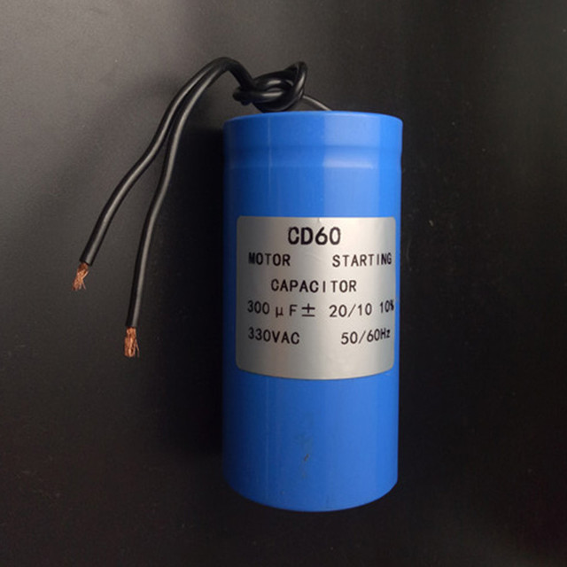 Motor starting capacitor 300uf 330vac for heavy duty for Electric motor start capacitor