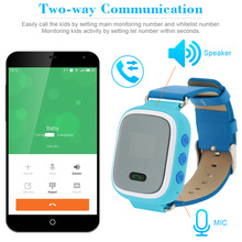 Kids Safe GPS Smart Watch Wristwatch SOS Call Monitor Location Finder Locator for Child Anti Lost Monitor Baby GSM GPS Locator