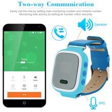 เด็กปลอดภัยจีพีเอสสมาร์ทนาฬิกานาฬิกาข้อมือSOSโทรตรวจสอบสถานที่ตั้ง Finder L Ocatorสำหรับเด็กต่อต้านหายไปตรวจสอบเด็กGSM GPS L ocator