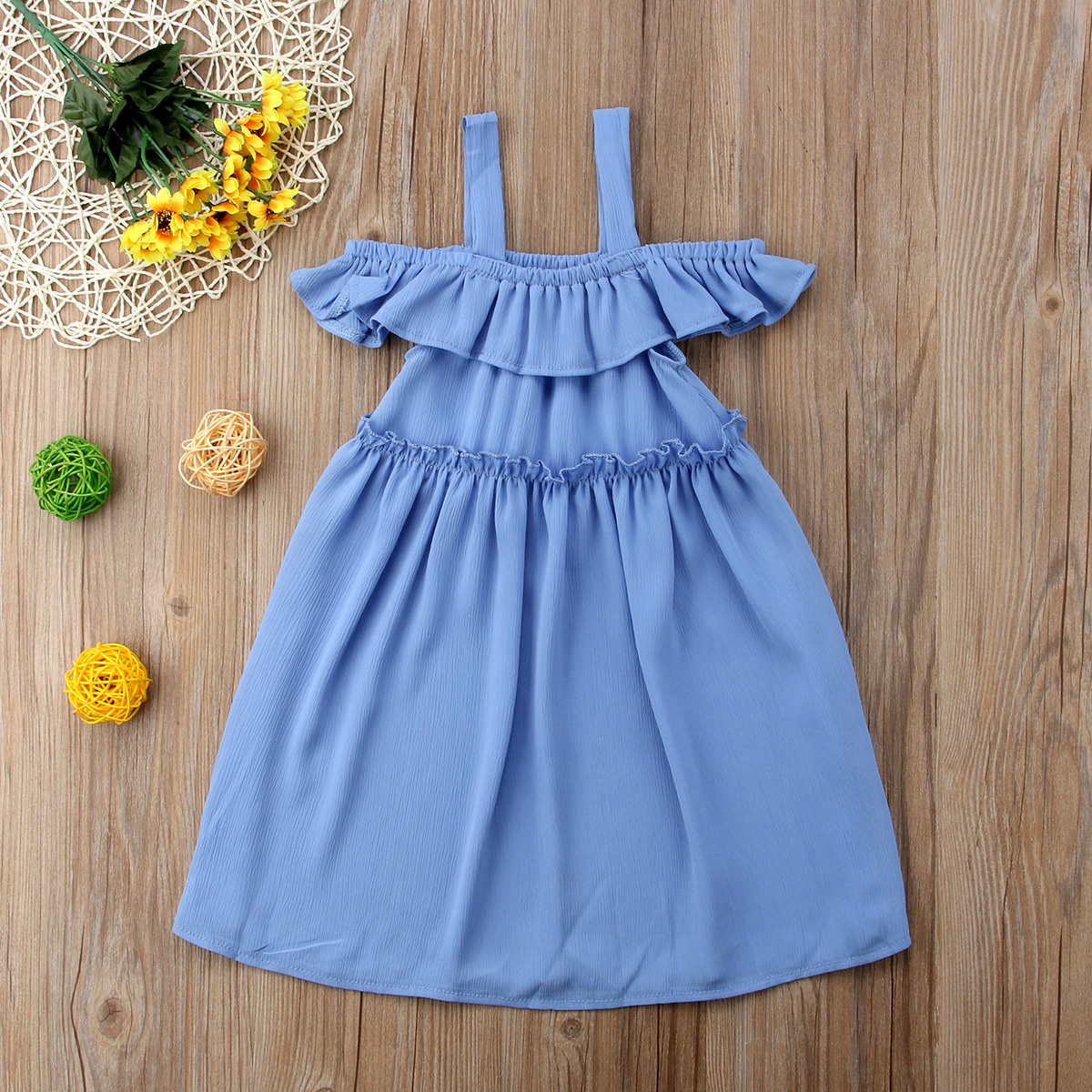 Newborn Infant Baby Kid Girl Sleeveless Dress Formal Dresses Toddle Clothes B3