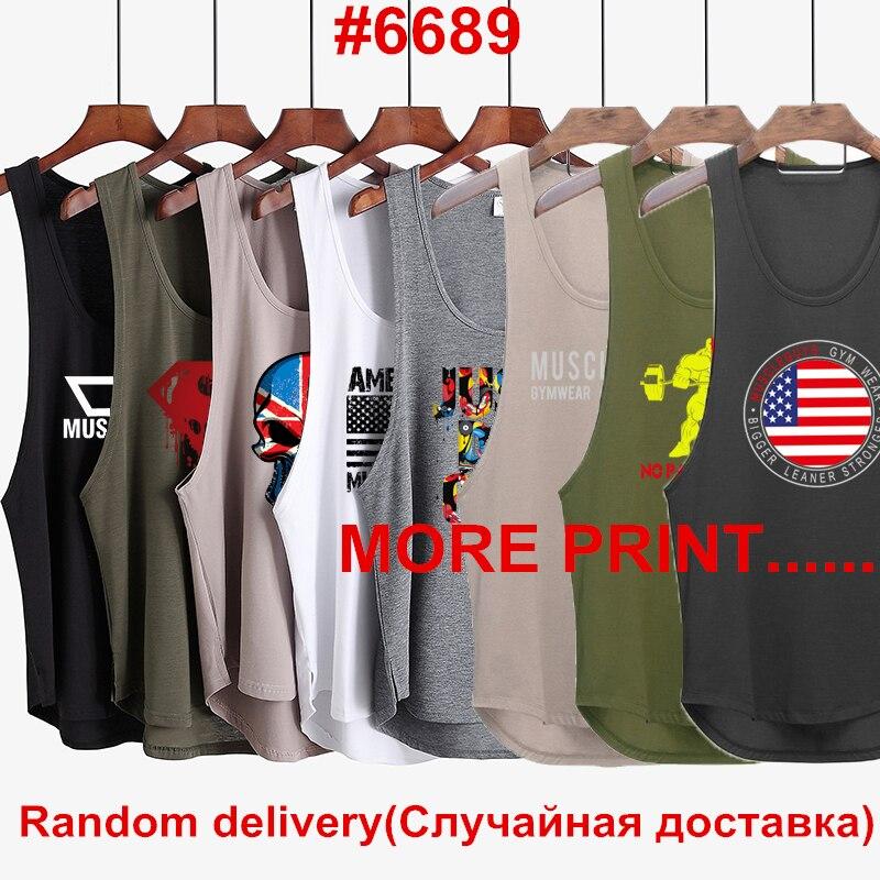3Pcs/Lot 2019 Fashion Brand gyms singlet canotte bodybuilding stringer   tank     top   men fitness shirt muscle sleeveless vest
