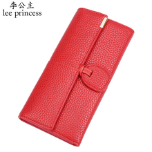 hot deal buy lee princess luxury long wallet women with soft skin pu phone bag coin purses holders ladies purse for girls wallets female