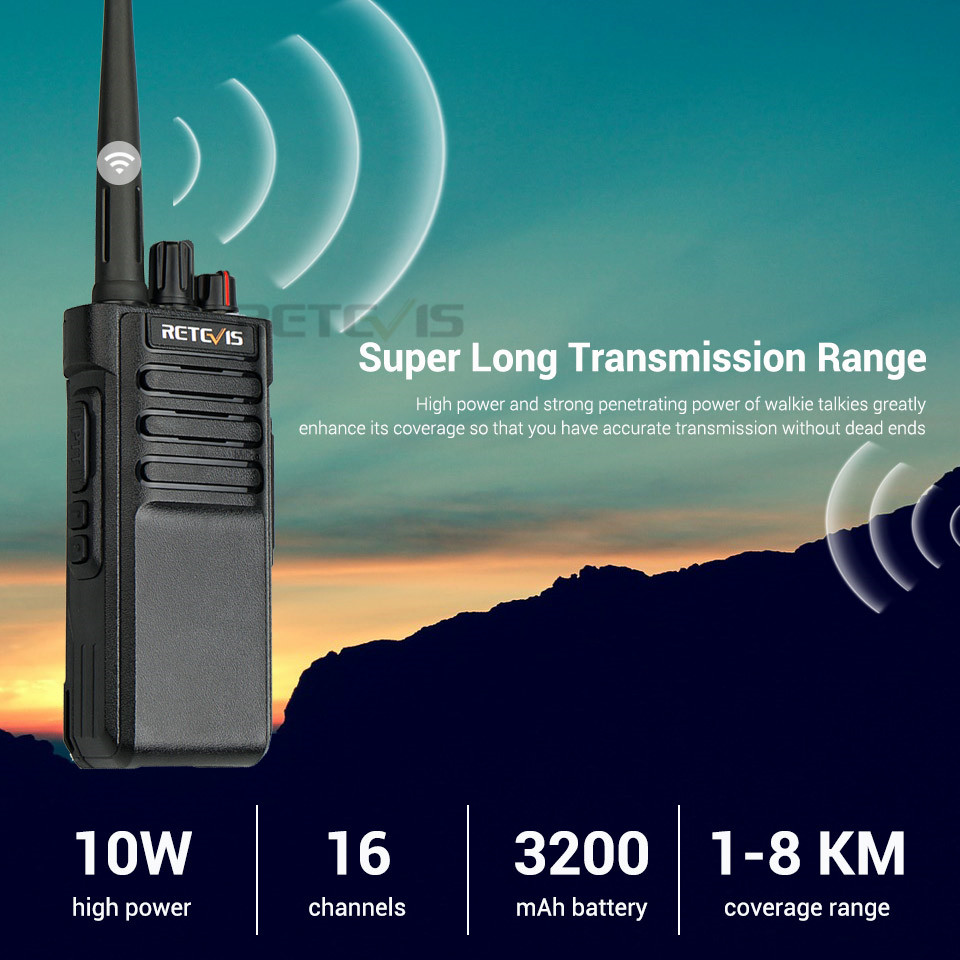 Image 4 - 1PCS IP67 Waterproof Walkie Talkie RETEVIS RT29 UHF (or VHF) VOX Professional Long Range Two Way Radio Transceiver Comunicador-in Walkie Talkie from Cellphones & Telecommunications