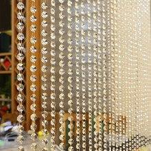 Роскошная занавеска из хрустального стекла для гостиной, спальни, окна, двери, Свадебный декор