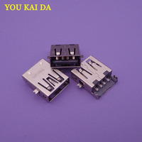 10-100 pçs/lote laptop usado motherboard placa de interface USB tomada USB conector micro USB 2.0 feminino jack carregamento porto
