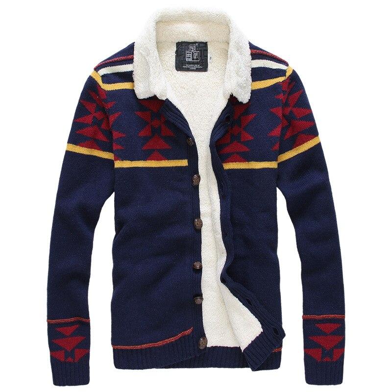2016 New winter font b men s b font knit font b sweater b font jacket