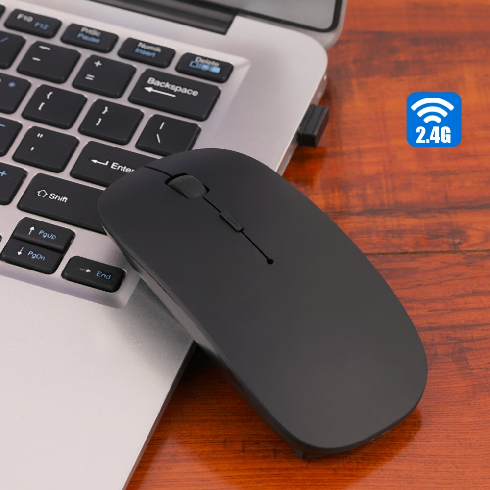 Laptop Computer PC Ultra Thin 2.4GHz USB Wireless Mouse Optical Mice