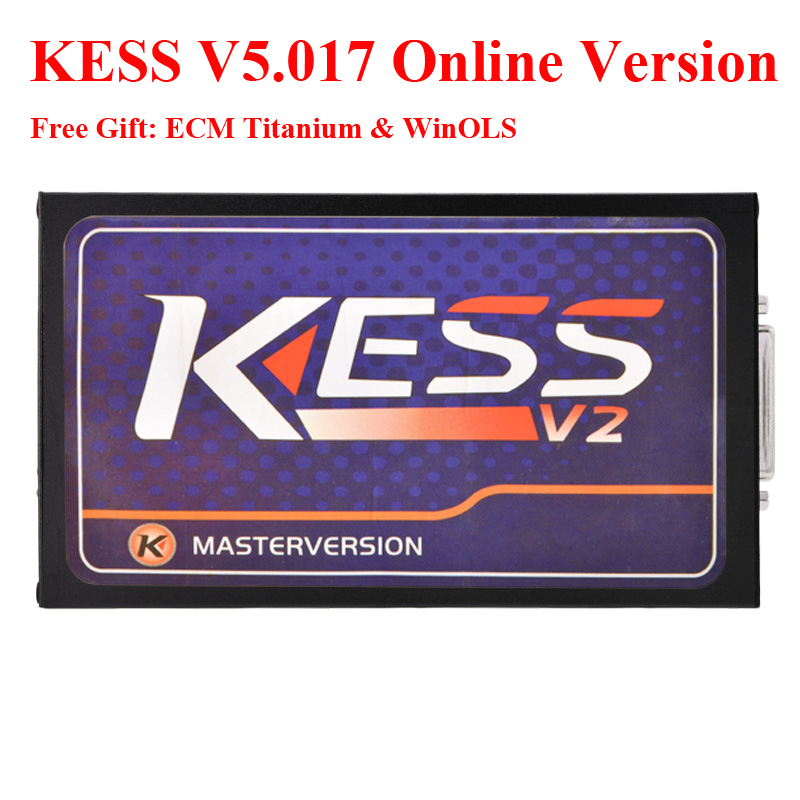 Online Version No Tokens Master Kess V5.017 Kess V2 V5.017 OBD2 Manager Tuning Kit V2.23 ECU Programmer via DHL Free shipping 2017 online ktag v7 020 kess v2 v5 017 v2 23 no token limit k tag 7 020 7020 chip tuning kess 5 017 k tag ecu programming tool