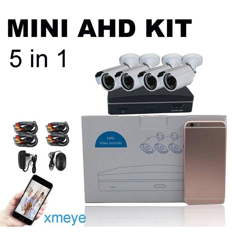 CWH 4CH 720P MINI AHD DVR KITS with 4PCS 1MP AHD Bullet Outdoor Camera 3.6mm Support Max 128G SD Card eSATA HDD 6TB CWH 4CH 720P MINI AHD DVR KITS with 4PCS 1MP AHD Bullet Outdoor Camera 3.6mm Support Max 128G SD Card eSATA HDD 6TB