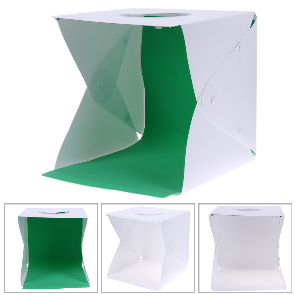 33x33x40cm Portable Photo Box Photography Backdrop Mini Photo Studio Box built in Light for iPhone Samsang