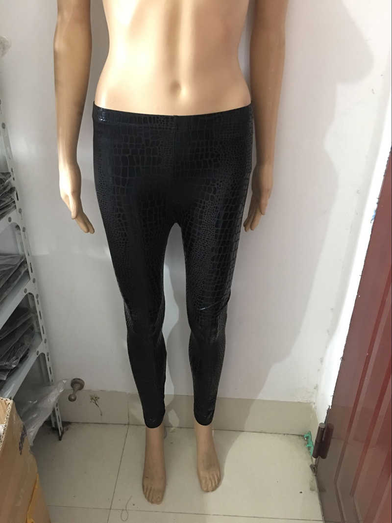 1ed9b0bc3963f ... High Quality Sexy Snake-Skin Faux Leather Leggings Women Punk Gothic Pants  Sexy PVC Bodycon