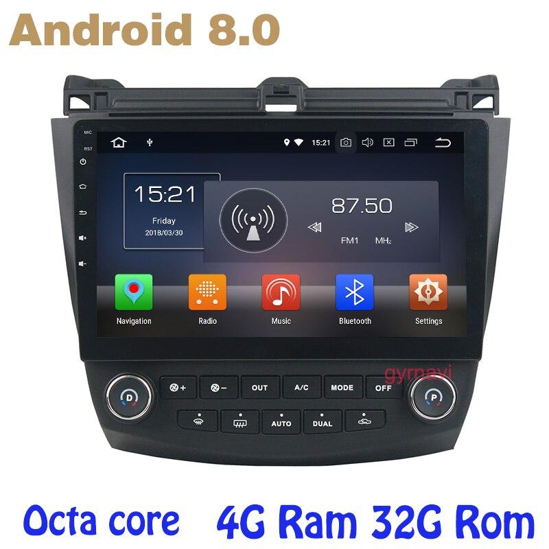 Octa core PX5 android 8.0 GPS Per Auto radio per accord 2003-2007 con 4g di RAM no dvd WIFI 4g bluetooth specchio di collegamento radio