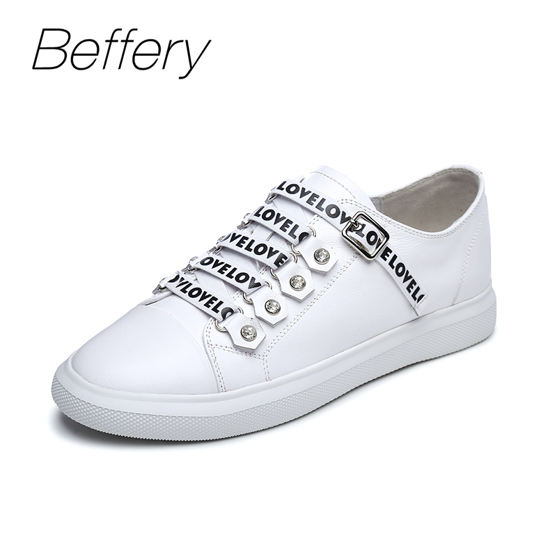 Beffery 2018 New Women Sneakers Fashion Flat Platform Shoes For Women Lace-up Casual Shoes girl Sneakers A1A8107-8