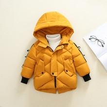 Girls Down Jackets Baby Outdoor Warm Clothing Thick Coats Windproof Children's Winter Jackets Kids Cartoon Winter Outerwear недорого