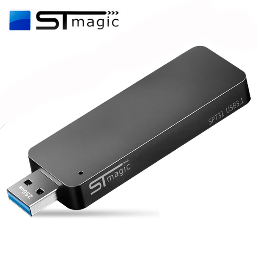 STmagic SPT31 256GB 512GB 1TB Mini Portable M.2 SSD USB3.1 External Solid State Drive For PC Laptop Read Speed 500MB/s SSD