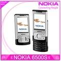 6500 S Восстановленное Оригинал Nokia 6500 Slide Сотовые Телефоны 3 Г Bluetooth Mp3-плеер 3.15MP Телефон